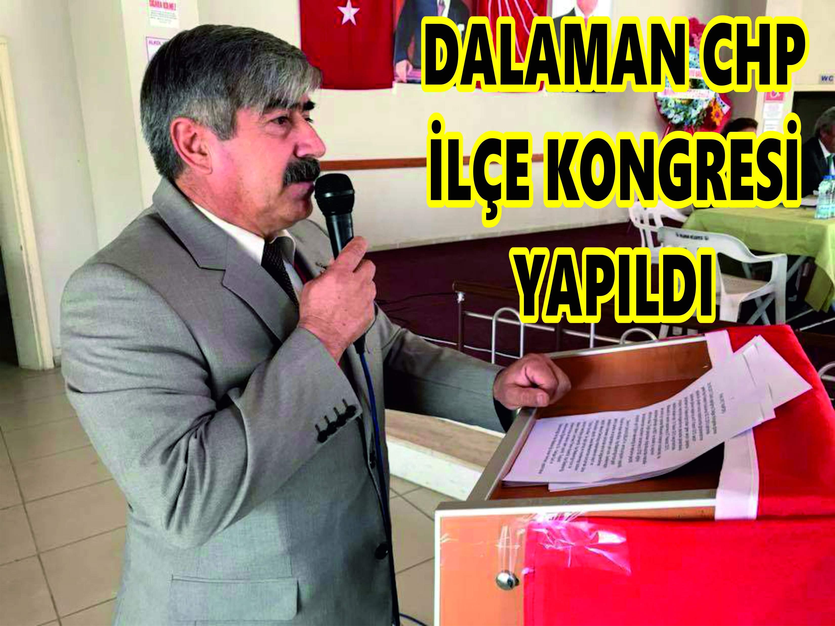 DALAMAN CHP İLÇE KONGRESİ YAPILDI