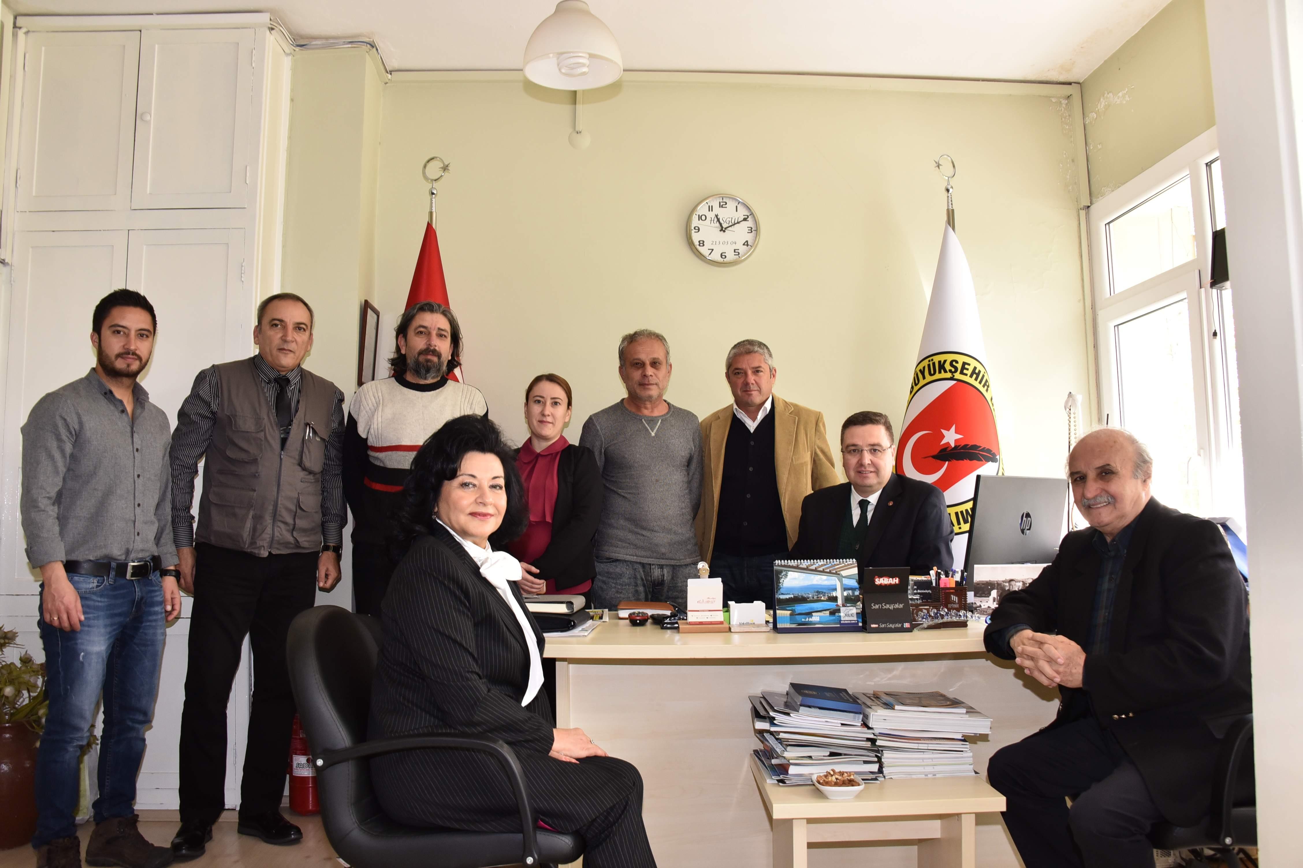 Vali Civelek'ten Muğla Büyükşehir Gazeteciler Cemiyetine iadeyi ziyaret